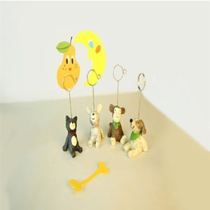 Cartoon 8 Style Mini Resin Animal Shaped Table Number Holder Place Card Clip Wedding Birthday Party Decoration