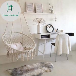Louis Fashion Patio Swings North Wind Stuhl hängenden Korb Baumwolseil Weaving Wohnzimmer Balkon Kinderzimmer