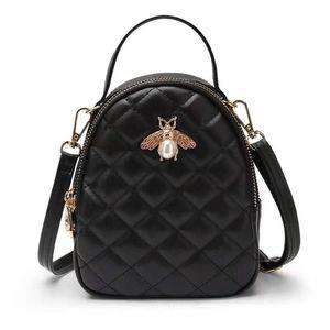 New Diamond Lattice small bee women designer handbags lady fashion shoulder crossbody bags femal casual evening totes no1988