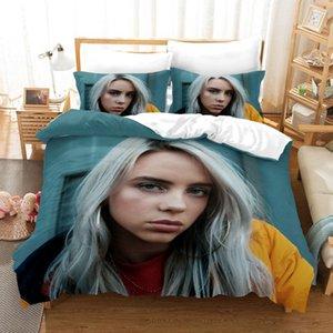3D Bedding Set 3D Stampare Realizzazione Copripiumino Set Re Regina dimensione doppia Dropshipping ragazzo gife Billie Eilish