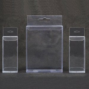 large size PVC Clear Plastic Packaging Boxes with Hanging Hole Crafts Gift Display Transparent Package Boxes 7 30