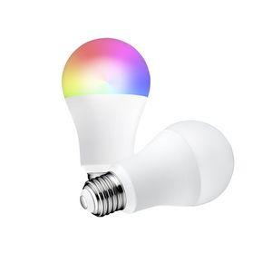 واي فاي الذكية الصمام ضوء لمبة عكسية متعدد الألوان أضواء RGBCW LED مصباح متوافق مع Alexa و Google Assistant 7W