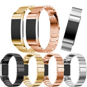 핏 비트 충전이 솔리드 링크 팔찌 손목 시계 스트랩에 스테인레스 스틸 시계 밴드