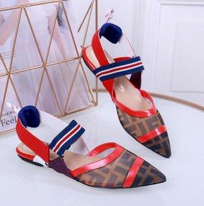 Womens DesignerLuxury sandali FF scorrere Beach Summer Fashion Shoes BrandSlipper lusso Flip Flop Box QS49 2021607Q