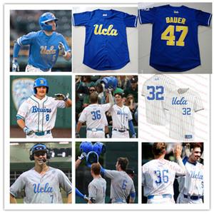 Пользовательские UCLA Bruins Бейсбол Джерси 5 Гаррет Митчелл 7 Майкл Толия 1 Мэтт Маклейн 3 Райан Крейдлер 33 Чейз Стрампф 36 Джейк Прайс Джерси
