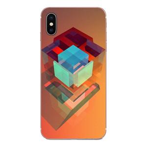사용자 정의 다채로운 기하학 소프트 TPU 휴대 전화 케이스에 대한 화웨이 명예 노바 주 20 20 30 5 5I 5T (6) 7I 7C 8A 8 배 9 배 10 프로 라이트 dxCKA 플레이 메이트