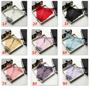 Sexy lace Transparent Comfortable Seamless Lumbar Triangle Underwear Crotch Woman Panties Briefts Valentine's Day HH9-2226