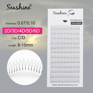 Seashine 속눈썹 가짜 밍크 미리 만들어진 러시아어 볼륨 속눈썹 4D 롱 사전은 볼륨 FansEyelash 확장 용품 만든 줄기