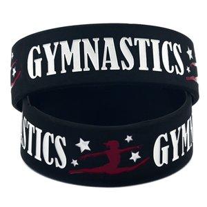 Novas publicações gymnastics pulseiras de silicone para mulheres homens Sports Carta pulseira Bangle moda presente da jóia em massa