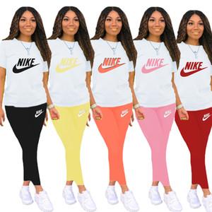 Verão Designer Womens 2 Piece Set longas Outfits Treino cor sólida Casual Roupas Femininas New Ladies Vestuário Plus Size 2020