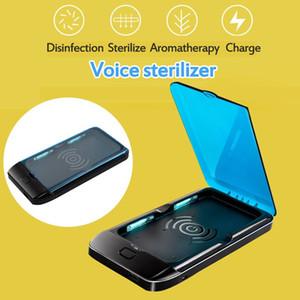 Dernières 5V Double UV Téléphone stérilisateur Boîte à bijoux Téléphones Cleaner Personal Sanitizer Désinfection Box avec Téléphone sans fil recharge rapide