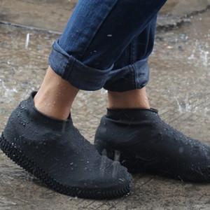 1 par reutilizável impermeável borracha anti-derrapante Chuva sapato cobre Elasticidade galocha Bota Galochas para viajar Praia