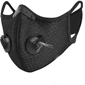 Tasarımcı lüks Bisiklet Yüz Maskesi Filtresi PM2.5 Karşıtı Kirlilik Spor Eğitim Koruma Toz Karşıtı damlacık Maske Running ile Aktif kömür