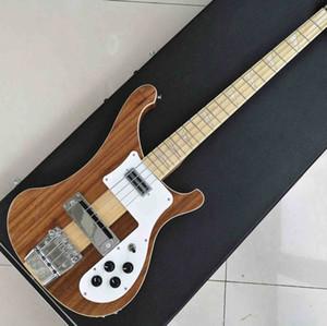 Neck Thru Corpo Um PC pescoço Corpo 4003 Estilo Natural Walnut Baixo Vintage Ric Electric Bass bordo fingerboard