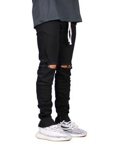 Magro Hiphop Mens Biker Jeans Moda Blue Black Holes Designer Slim Fit Jean Pants