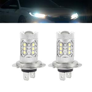 2pcs Led المصابيح 80W 6000K H7 LED Fog Light Pilt Auto Car Driving DRL Lamp Dipped Beam Headlight Plays Car Accessries