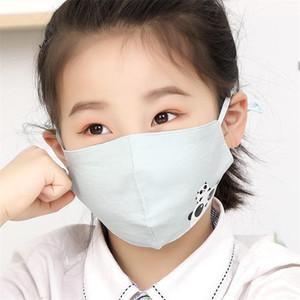 Impression Panda Masques bouche anti-poussière Masque Visage respiration respirateurs enfants Enfant unisexe style belle Lavable 2 89ry H1