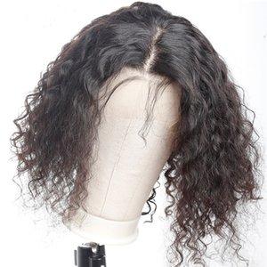 Capelli corti ricci Bob parrucche con il bambino Pre pizzico 13x6 merletto della parte anteriore parrucca Brazlian capelli umani parrucche per donne di colore Kinkys ricci Parrucche