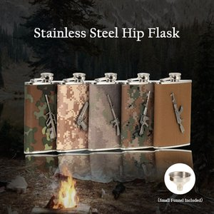 5 Color Stainless Steel Hip Flask with Small Funnel Outdoor Camping Alcohol Liquor Wine Flagon Mini Bottle Birthday's Gift