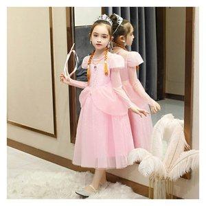Satış Çocuk Tasarımcı Elbise Yeni Buz Prenses Aisha Etek Kız Marka Elbise Dantel İnci Prenses Elbise Abiye Sıcak Satış Sıcak