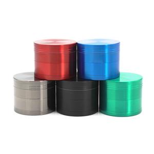 Grinders 63mm / 50mm / 40mm 4 partes multicolor disponible, trituradora de tabaco dientes planos Grinders Zicn aleación CNC encajan DHL hierba seca