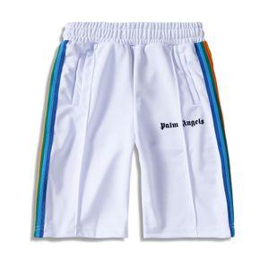 Verão New Shorts Moda Hip Hop Casual Bordado Shorts Listrado Preto Azul Red Shorts Designer Tamanho S-XL
