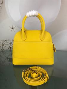 Bolsa de lujo Classic Shell cuero genuino de hombro del diseñador bolsos de las mujeres Crossbody del monedero del totalizador de las compras 9 colores 18 cm y 26 cm de tamaño