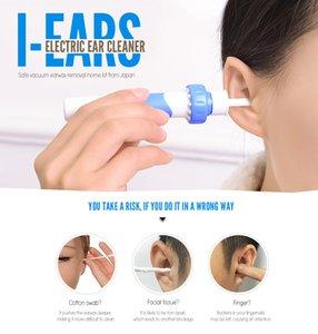 i-oídos Limpiador de oídos portátil Eliminación de cerumen Vibración eléctrica Aspiración Limpieza Suave Consejos de higiene Wonder Soft Espiral Earpick Envío gratis BB