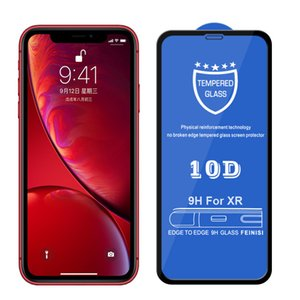 10D Tempered Glass for IPhone 11 11Pro 11 ProMax X Xs XR XSMax 7P 8P 7 8 Anti-Scrath Screen Protector Curved Glass Film