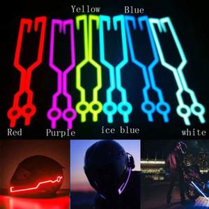 دراجة نارية خوذة ضوء الشريط ليلة ركوب الخيل اللمعان الشريط