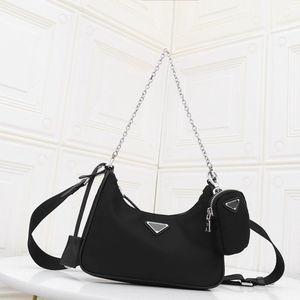 2020 Diseñador Crossbody Bolsa de nylon Hobos Luxuryss embrague bolso para las mujeres Mini Pochette cadena de Crossbody del diseño bolsa de la llave Bolsas de mujeres