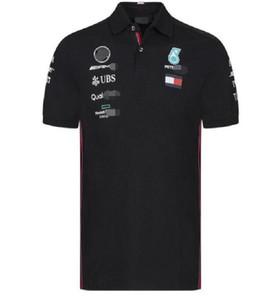 F1 2019 chaud Formule Un costume de course T-shirt manches costume de course costume équipe Polo chemise courte cravate