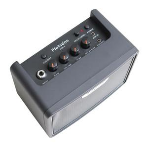 Portable Plastic Guitars Micro Headphone Amplifier Black 19x12x15.5cm
