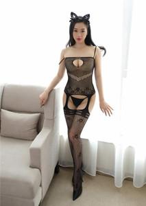Union européenne et américaine du syndicat des sous-vêtements sexy costume femmes ne décollent pas entrejambe tentation bas de soie collier transparent ne