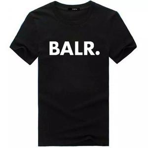 Marca Designer BALR camisetas rua maré ocasional de manga curta gola redonda soltas de manga curta masculina de personalidade dos homens do algodão T-shirt Shi gratuito
