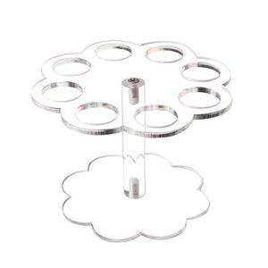 8 отверстий дисплея Ice Cream Cone держатель DIY Акриловая Практическая Главная Кухня Выпускной Стенд Свадьба Съемные Прозрачный