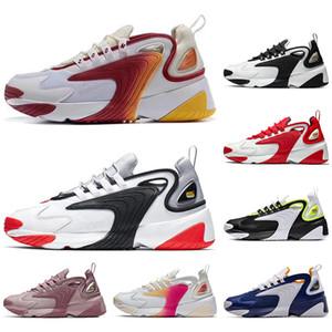 Nike Avec Chaussettes Femmes Zoom 2K Chaussures M2k Tekno hommes femmes chaussures sport noir blanc rouge reace confortable de formateurs en plein air perméable à l'air