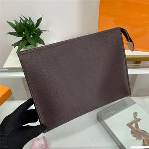Мода из натуральной кожи Браун сцепления цветы макияж Косметические сумки Человек / женщин Zipper Wallet Большая емкость мешка Бесплатная доставка