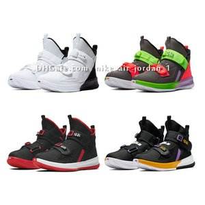 Леброн солдат 13 мужчины Женщины Дети Мальчики Девочки баскетбол обувь для продажи Леброн Джеймс Xiii MVP Рождество BHM Oreo кроссовки Размер US4-12