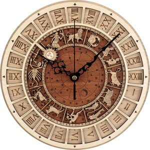 Venice Campanile Wooden Clocks Home Art Wall Clock Vintage Hanging Time Clock Modern Design Wall Art Decor