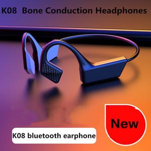 2020 Nova K08 TWS Earphones Com condução óssea auscultadores Bluetooth Fone de ouvido sem fio Blutooth Headset Esportes auriculares impermeáveis