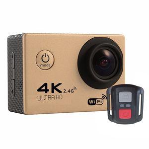 RF 2.4 عن بعد 4K تحكم 30FPS الرياضة DV H12R 30M مقاوم للماء كاميرا العمل WIFI تحكم 2.0 '' عرض الرياضة كاميرا 6-10PCS لون