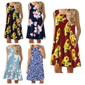 Quality 33 style Womens Beach Dresses Summer Plus Size Dresses Women Sexy Casual TShirt Nightdress Floral Night Club Party Dresses 2XL