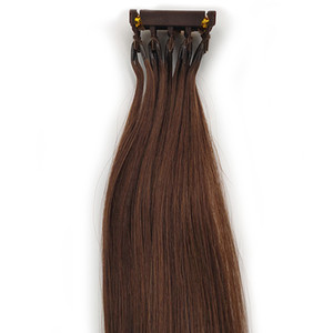 2020 New Cuticle Aligned Hair 6d Hair Extensions Second Generation Products Pre Bonded Micro Loop Hair Extensions Full Head Takes Only 30min
