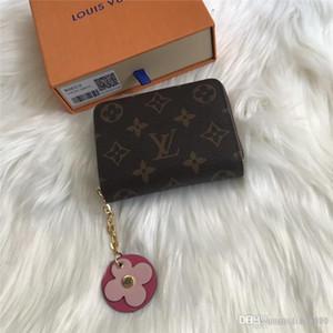 Clásico carpeta corta de diseño de lujo titular de la tarjeta de las mujeres ZIPPY MONEDERO bolsa de dinero cuadrada M68332 clave compacta calidad caja superior
