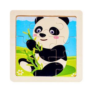Ahşap 3d Bulmaca Yapboz Çocuk Bebek Karikatür Hayvan / trafik Bulmacalar Eğitici Oyuncak Çocuk Oyuncak Ahşap Bulmaca Küçük Boyutu 11 * 11 cm