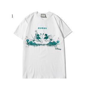 Lüks Erkek Gömlek Yaz Designered Erkek Markalı Tişört Kısa Kollu Maymun Desen Kadın Üst Tees Hip Hop Moda Streetwear 2020311K