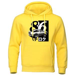 Homens Deriva Hoodies Japão Anime Hoodie camisola Moda Casual Pullover AE86 Initial D Homme Harajuku Streetwear Hip Hop Hoody