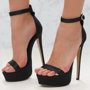 Hot2019 Hanımefendi Yıl Bir Kelime Tipi Seksi Grace Yılan Düz Renk Çile Sandalet Ziyafet Ayakkabı