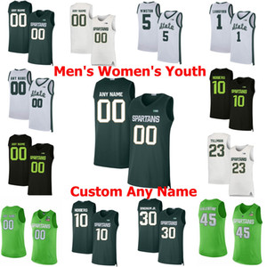 Michigan State Spartans College Basketball Jerseys Kyle Ahrens Jersey Joshua Langford Foster Loyer Cassius Winston Aaron Henry personalizado ponto